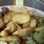 Potato-Wedges mit Tandoori Masala auf Salatbett