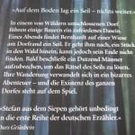 """Stefan aus dem Siepen: """"Das Seil"""" - Rückentext"""