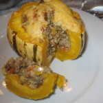 Überbackener Sweet-Dumpling Kürbis