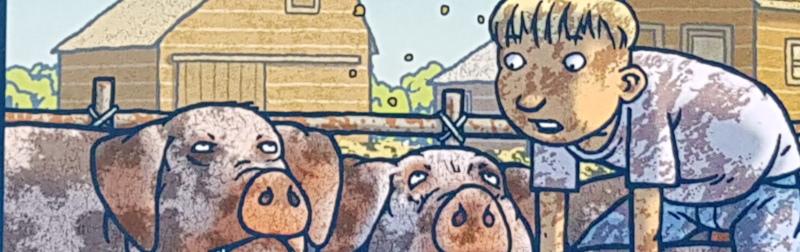 """Gary Paulsen: """"Harris und ich. Von Mörderschweinen, der Kuh Vivian, Ernie dem Hahn und …und … und"""""""