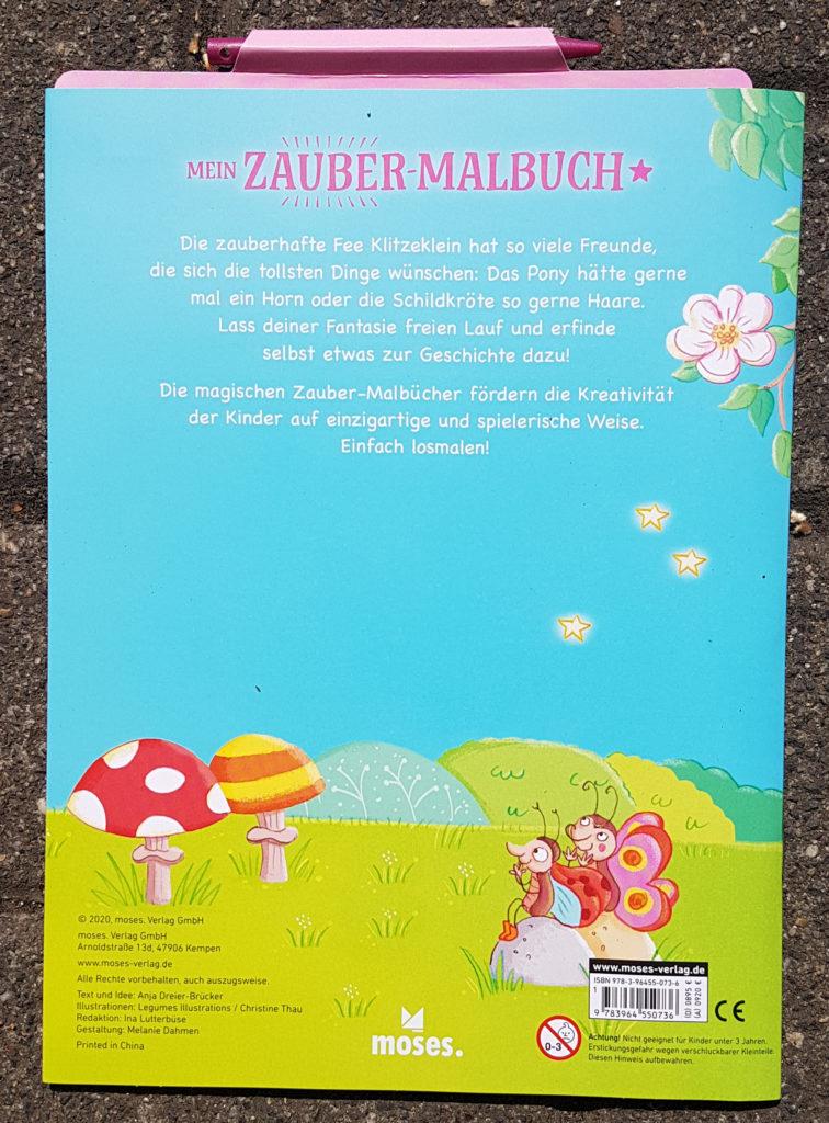 """Zauber-Malbuch """"Fee Klitzeklein macht Wünsche wahr"""" von Anja Dreier-Brücker und Christine Thau"""