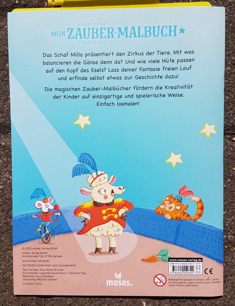 """Zauber-Malbuch """"Manege frei, Milla!"""" von Anja Dreier-Brücker und Christine Thau"""