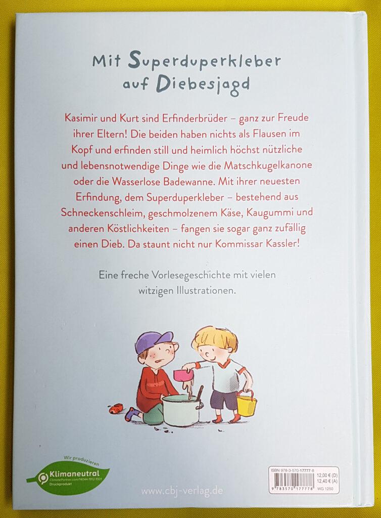 """""""Die Erfinderbrüder und der Superduperkleber"""" von Johanna von Vogel"""